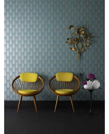 """Soprano Teal Wallpaper Elixir Graham & Brown"" www.designyourwall.com"