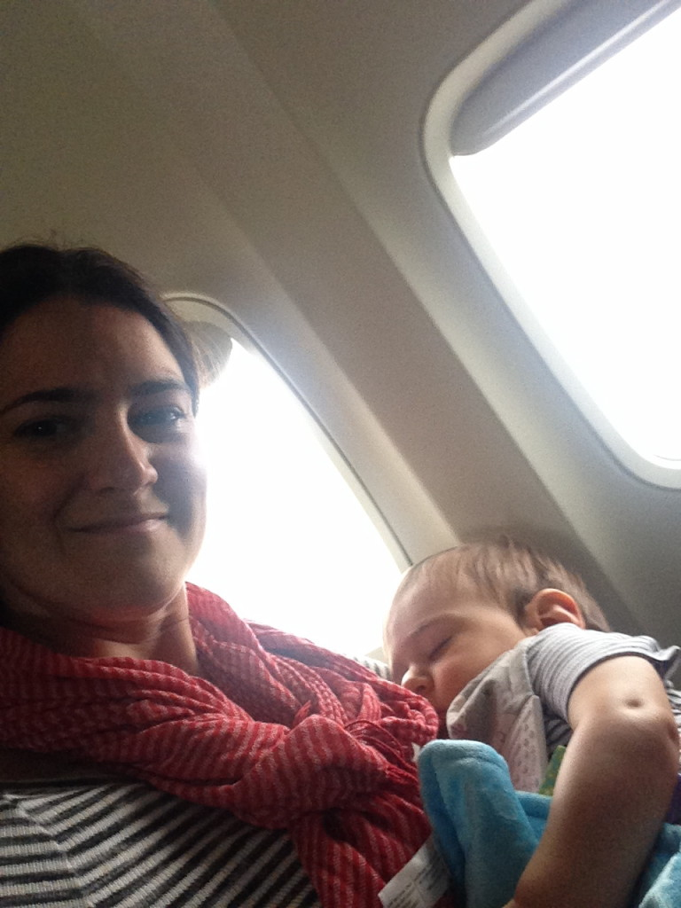 Window seat. Alfie asleep. Entire row to ourselves. Score!